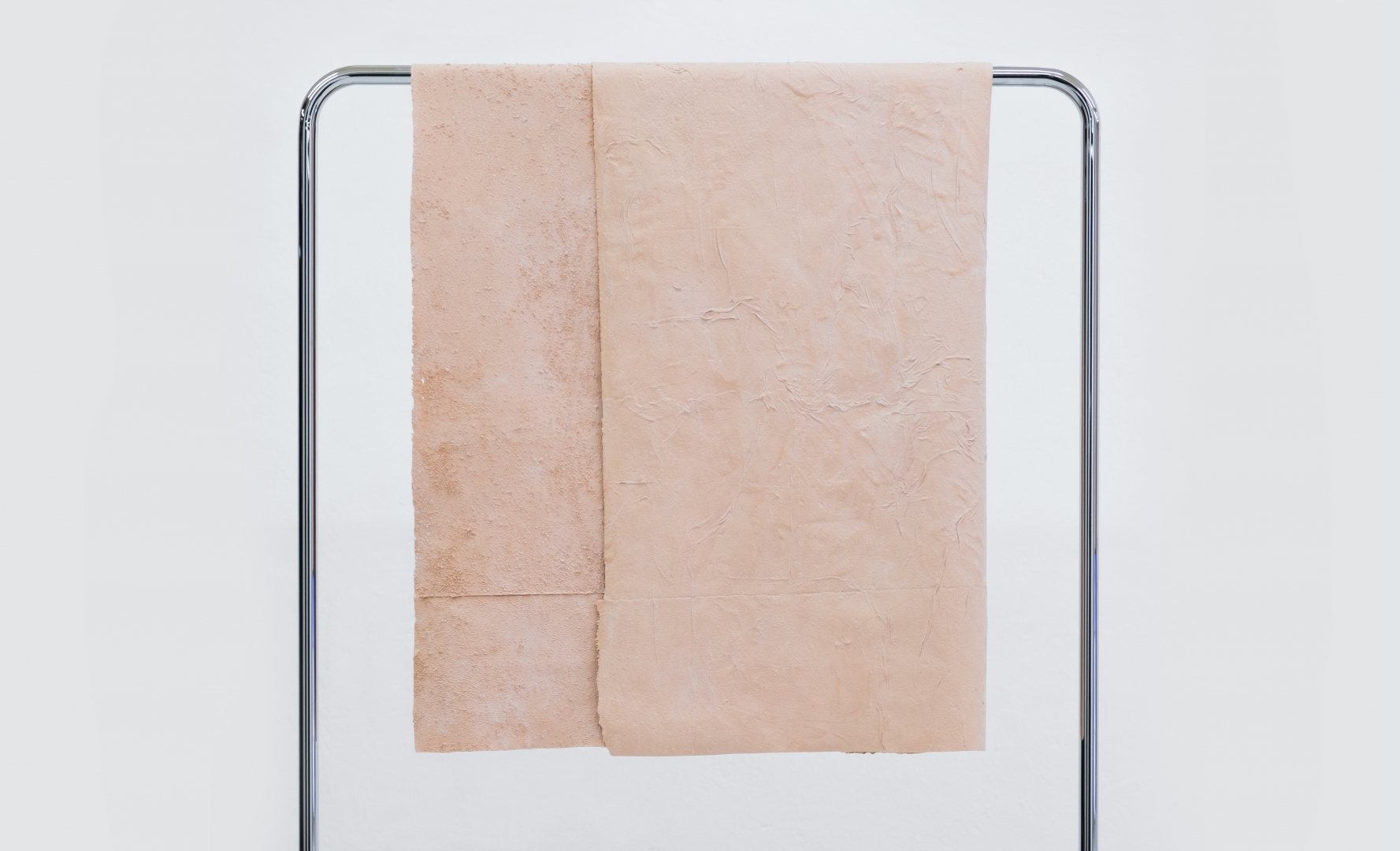 TOWEL 1 from Towel Collection 2017 130x80x3 cm latex, pigment, crome stand