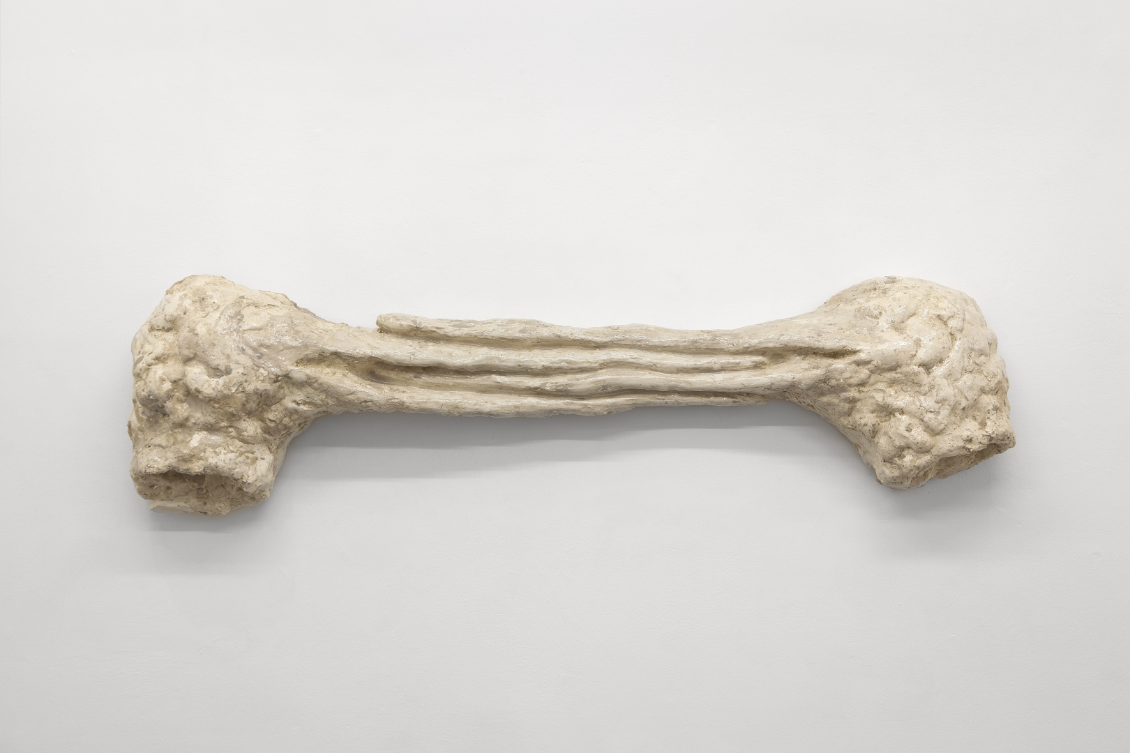 couple bécasses, plaster, resin, (140x 40 x 15cm) (2017)