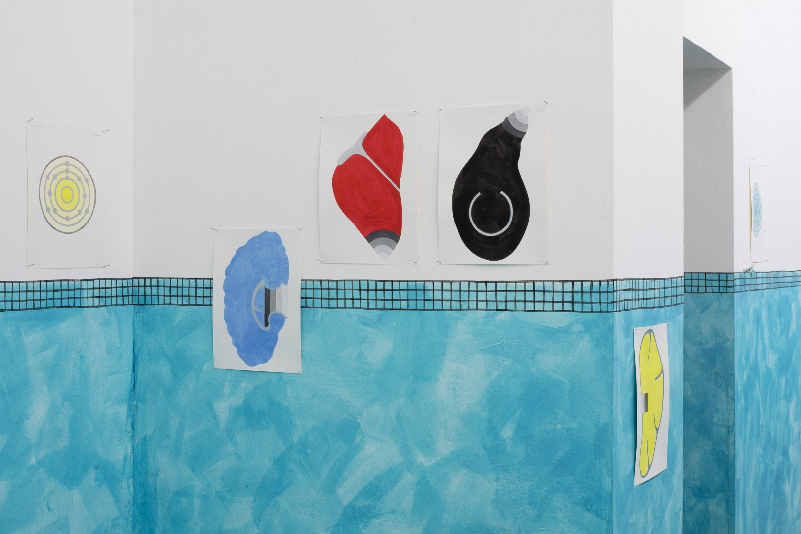 Navine G. Khan Dossos, Pool Paintings Part I, 2020 (2018)