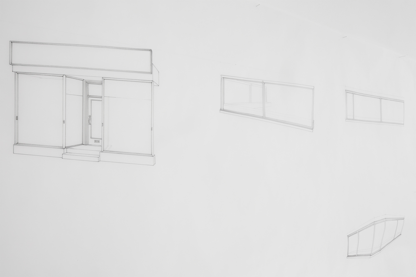 Joshua Leon - An Unfinished History of Glass (Three proposals to reform the windows: A Shop, A Restaurant, A Synagogue), 2021